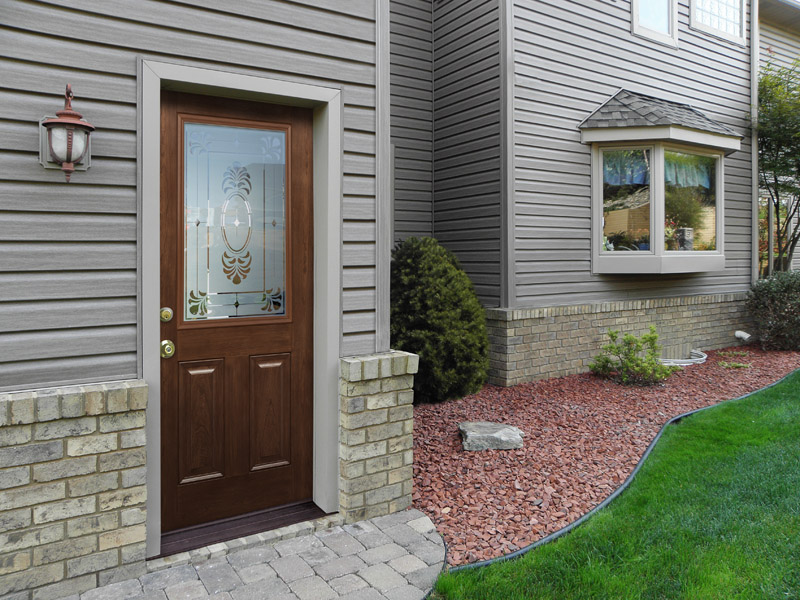 picture of a Signet Fiberglass Entry Door replacement charlotte nc All Seasons Window & Door Co. 2821 Rosemont St, Charlotte, NC 28208 (704) 399-4244