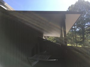 Metal Awning Installation